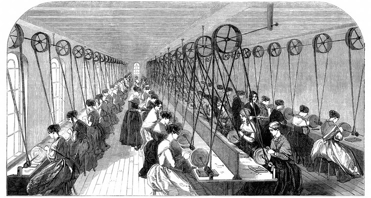 Women and children were often employed in factories during the Industrial Revolution.