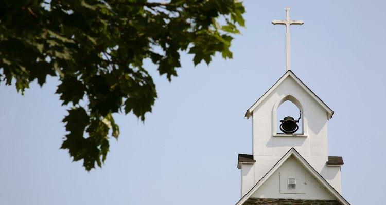 Church bell tower, New Brunswick, Canada