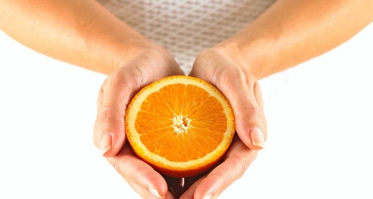 Orange fruit can improve your health.