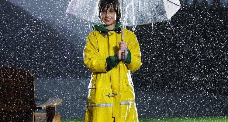 No pintes tu césped en condiciones de lluvia.