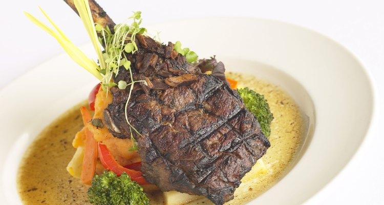 Crea menús que combinen el color y la textura.