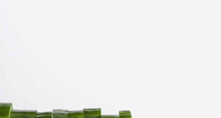 Evite pepinos cortados de secarem ou ficarem moles