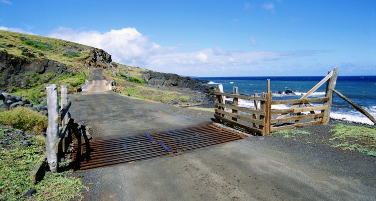 Cattle grids can be seen across the western United States.