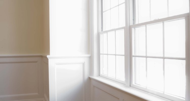 Remove varnish from windows with rubbing alcohol.