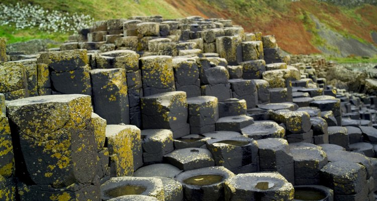 The Giant's Causeway, highlight of a solid  walk along the coast of Co. Antrim.