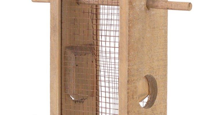 Instala un comedero para aves con múltiples niveles para qué más de un ave pueda alimentarse a la vez.