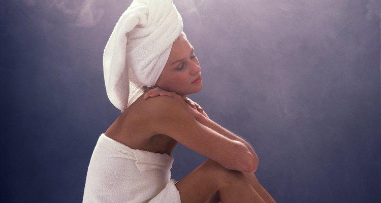 Mulher na sauna
