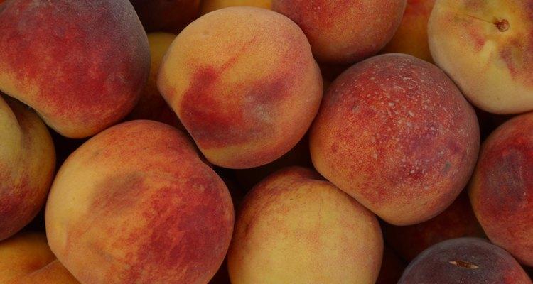 Close-up of peaches