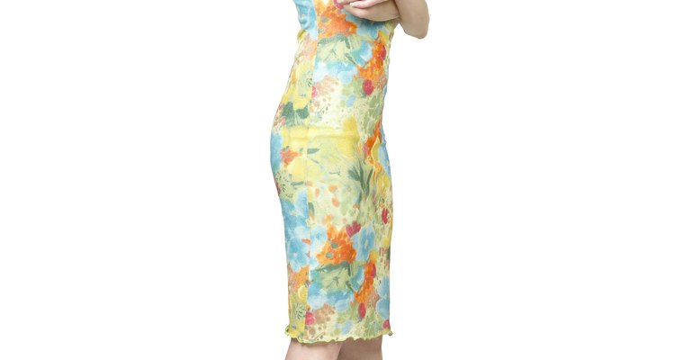 Woman In Colorful Floral Sundress