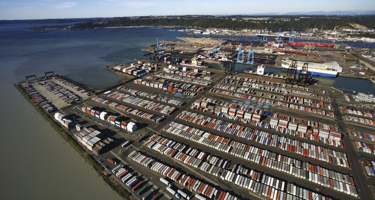 O transporte intermodal se utiliza muito de containers