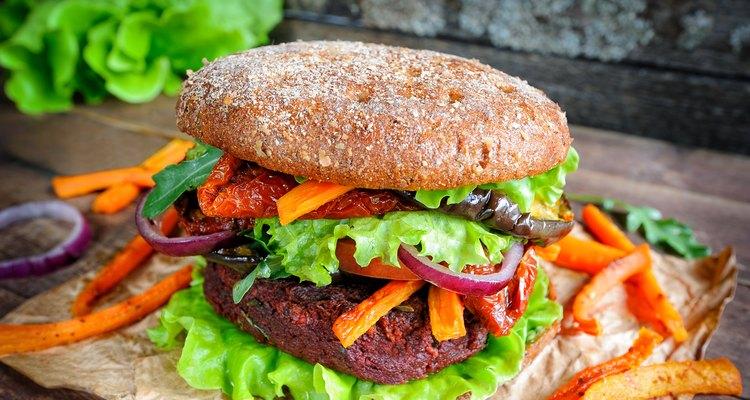 Beetroot lentil vegan burger