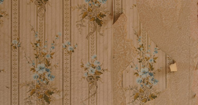 It is easier to identify the top of some wallpaper patterns than others.
