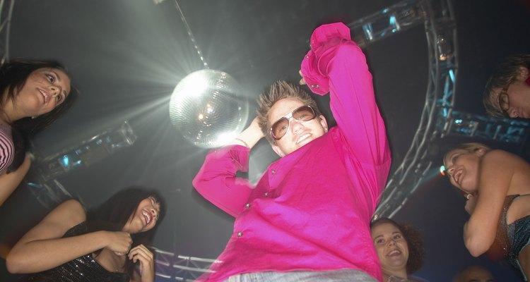 Man dancing in a nightclub