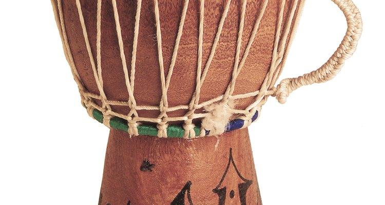 Tambor africano tradicional.