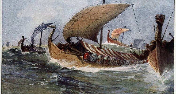 Viking longships could carry warriors to far lands with tremendous speed.