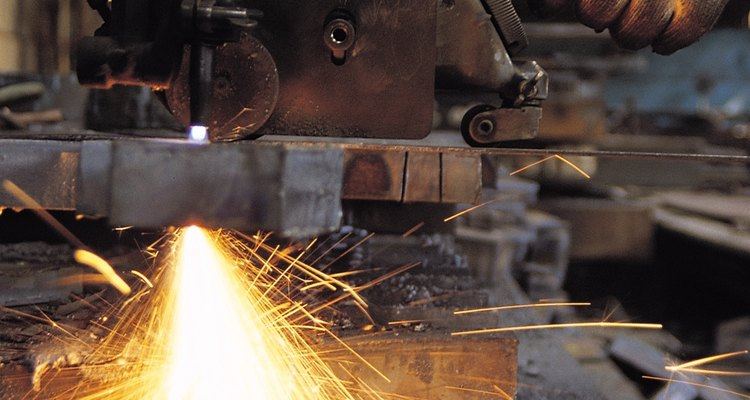 Cutting through a weld is more difficult than cutting through the pieces of metal welded together.