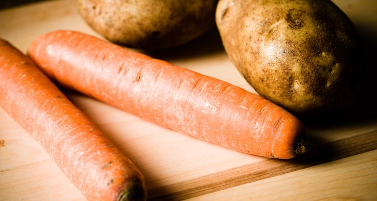 Potatoes and carrots are examples of tuber and root crops.