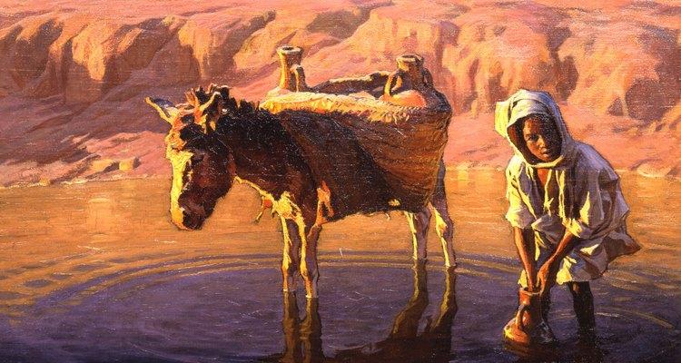 Los burros eran un medio común de transporte en el antiguo Egipto.