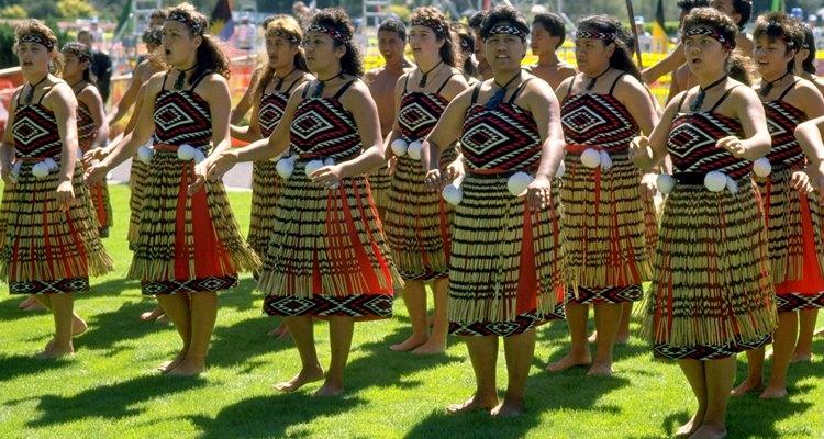 Las mujeres maoríes.