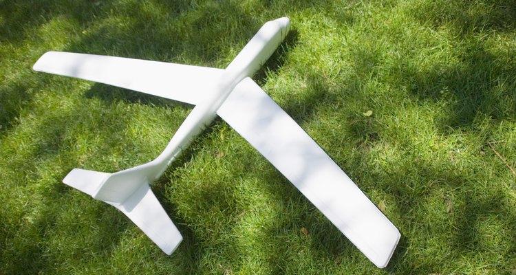 Um avião de isopor
