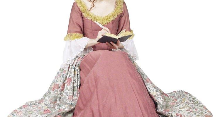 Los miriñaques fueron usados primero por las mujeres en el siglo 18.