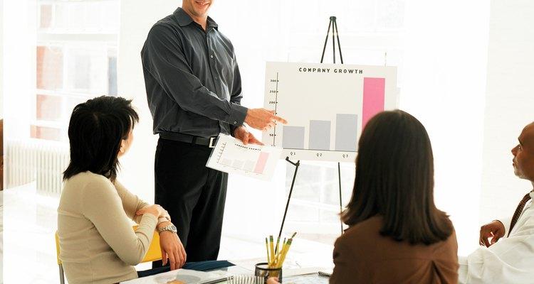 Exibição do crescimento de lucros de uma empresa