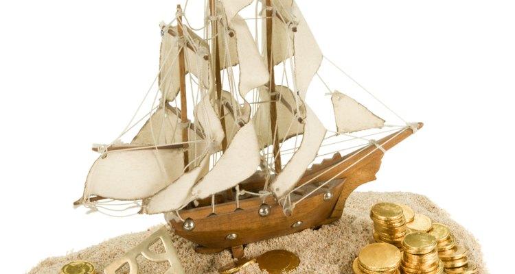Una réplica de un barco de la época renacentista.