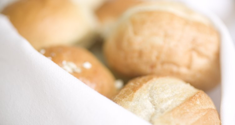 Soften leftover rolls in the oven or microwave to diminish their stale texture.