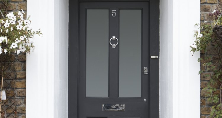 Painting doors can accent nearby paint or masonry.
