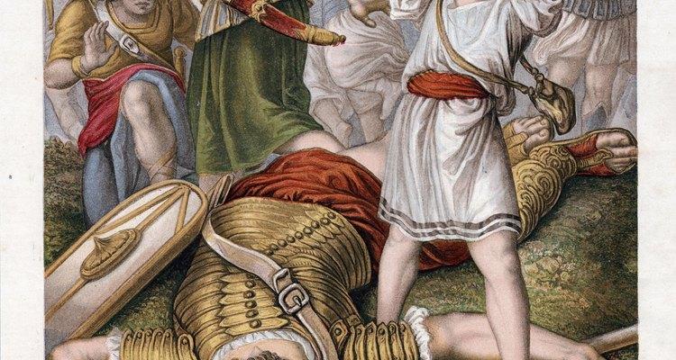 El libro Samuel 1, capítulo 17 relata la famosa historia de David y Goliat.