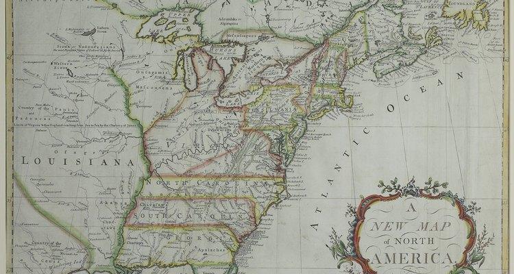 Más allá de las 13 colonias, los colonos no tenían conocimiento de la disposición de la tierra.