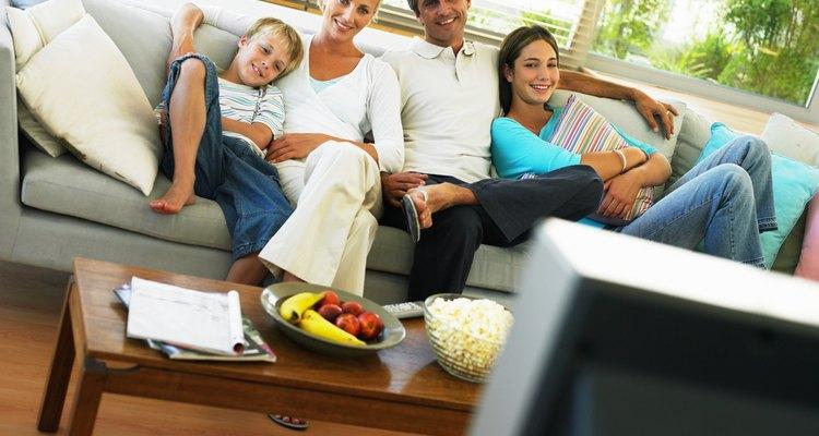 Ver la televisión puede ser algo que hagas como familia.