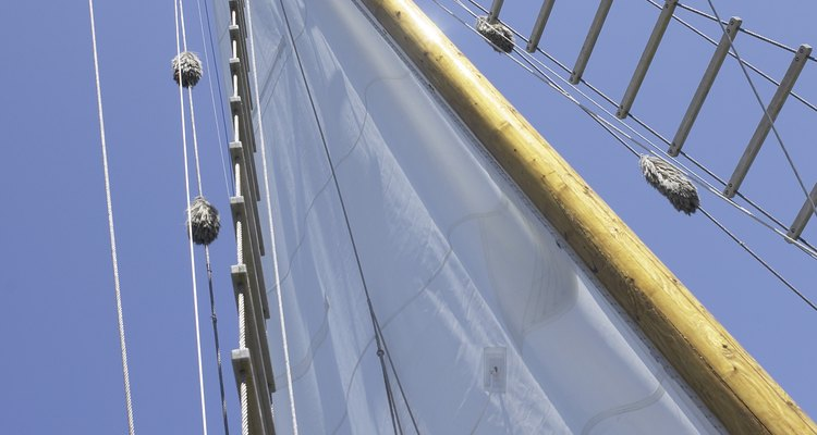A mast ladder allows a sailor to access rigging high above the deck.