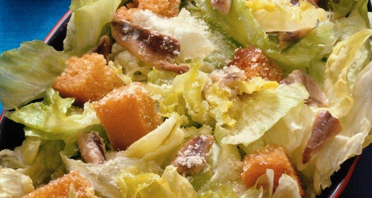 Con frecuencia, la ensalada César se come como entrada.