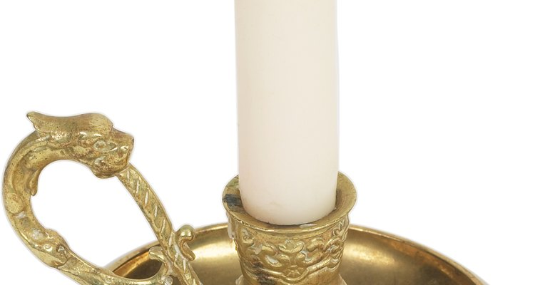Brass is a popular metal for candlesticks.
