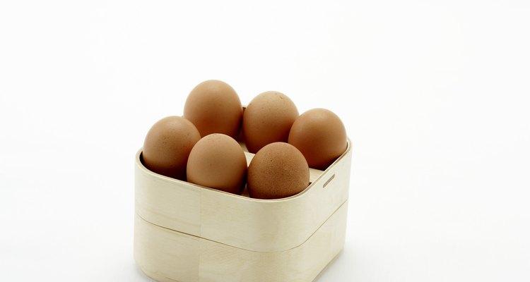 Ovos prontos para serem cozidos