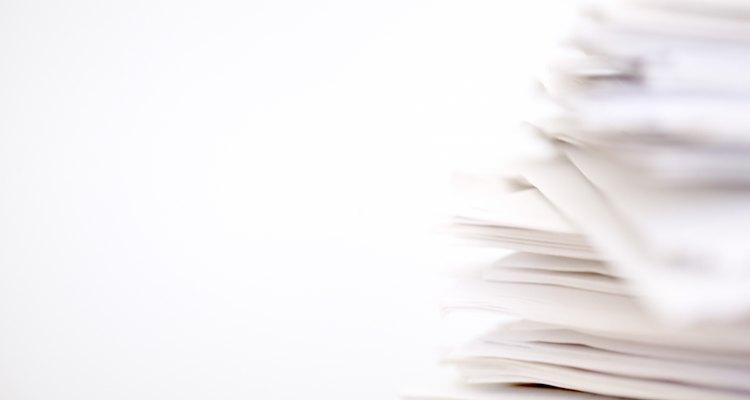 Molhando o papel
