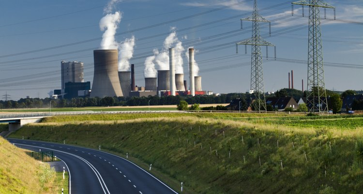 Coal power plants can release a large amount of pollution.