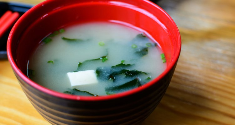 Close up of Miso soup, Japanese Food