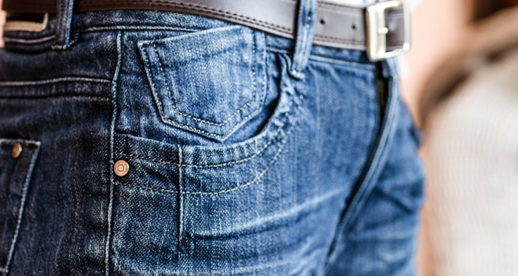 jeans with a brown leather belt