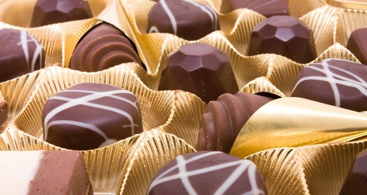Chocolates recheados com álcool