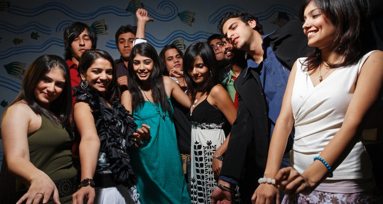 Youngsters dancing at a party