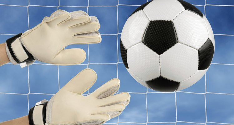 Latex foam goalkeeper gloves need occasional repair.