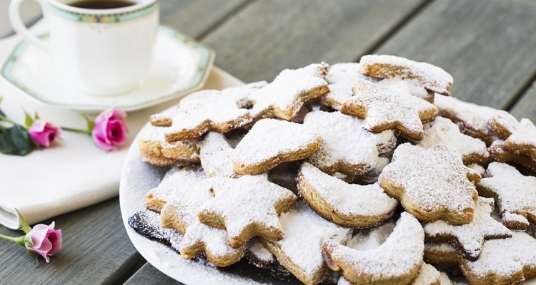 Homemade cookies with cup of tea or coffee