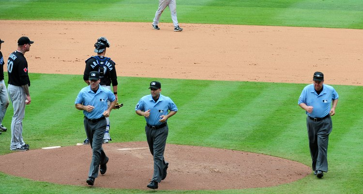 Instant replay may require umpires to leave the field for review.