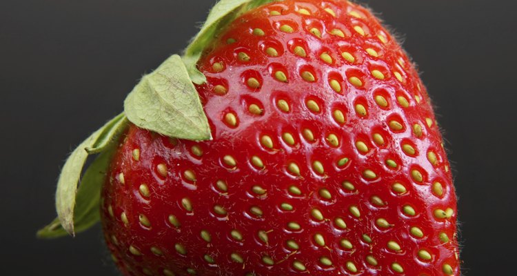 Some strawberry varieties have pink flowers.