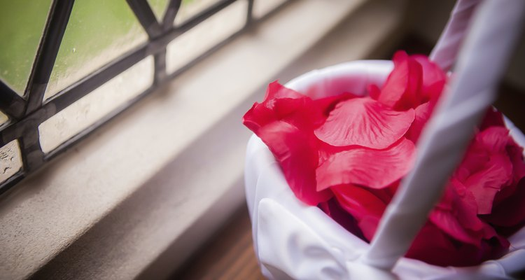 Rose Petals in Basket