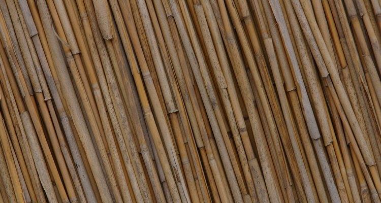 Utiliza el bambú para crear una cobertura natural de pared.