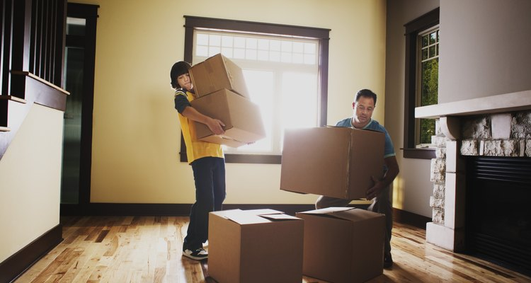 Give your back a break when moving heavy boxes.