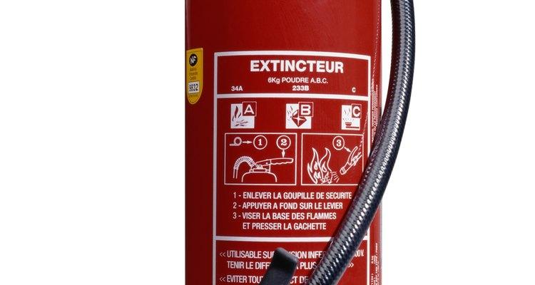 As partes de um extintor de incêndio